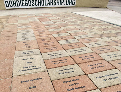 Legacy Bricks Installed at Plaza Fountain Honoring Don Diego Scholars